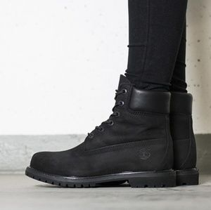 Timberland Black Leather Boots 6 Inch Premium WP 9